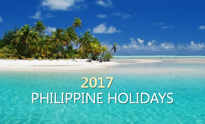 Holidays, Observances in the Philippines for 2017