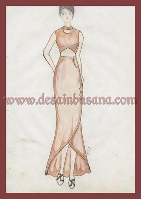 Desain Dress Sketsa