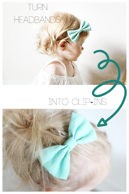 How To Turn Nylon Headband Bows Into Clip In On Bows Tutorial little poppy baby newborn girl