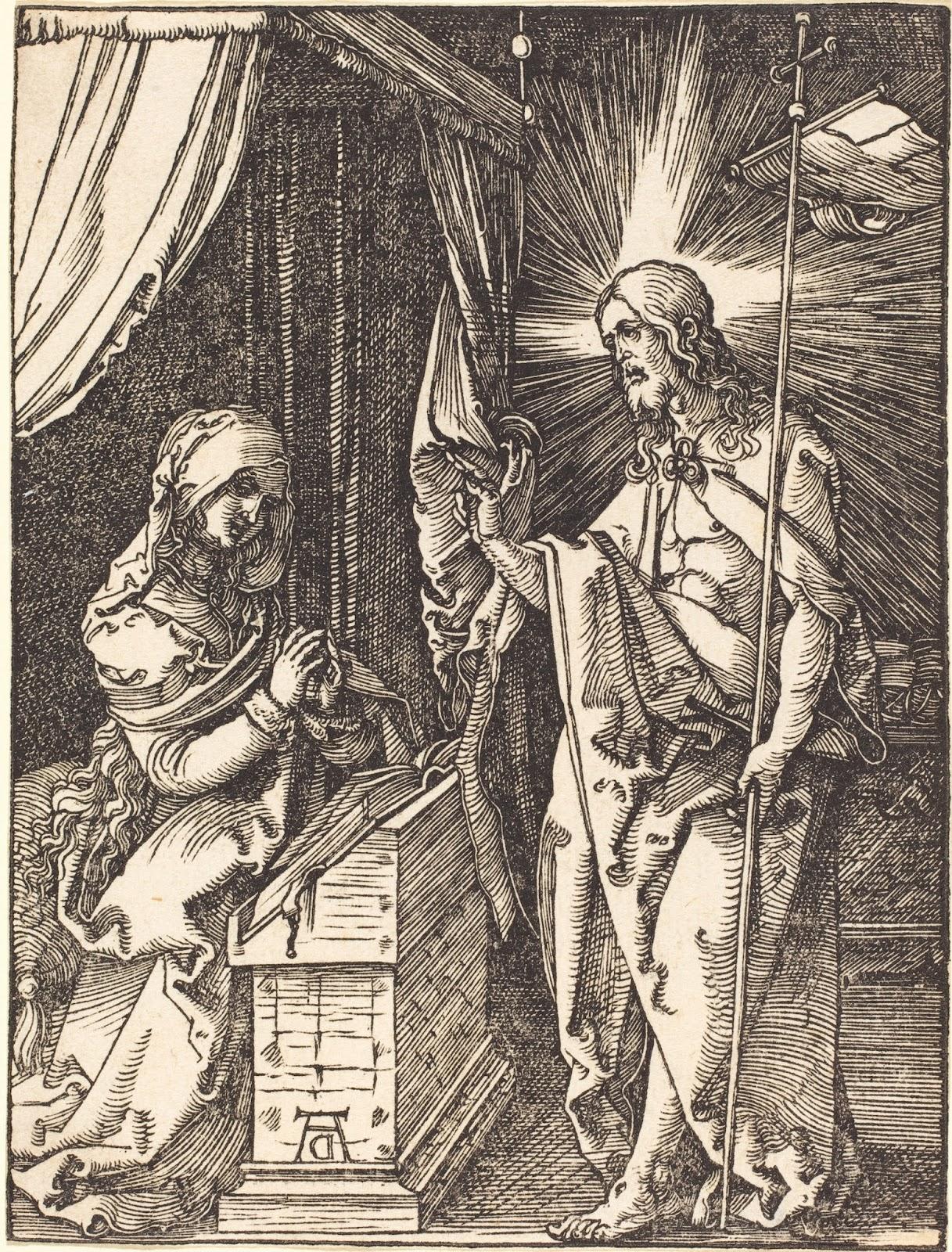 APARIÇÃO DE JESUS RESSUSCITADO A SUA MÃE MARIA SANTÍSSIMA