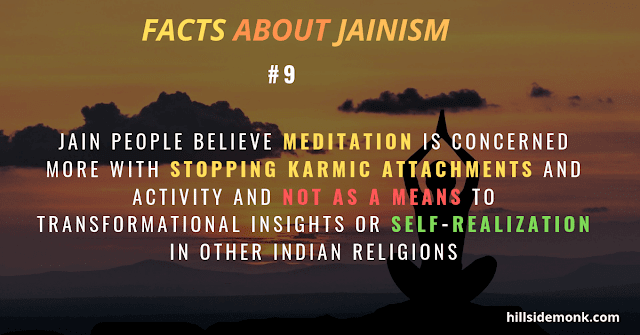 Jain meditation - stopping karmic attachments