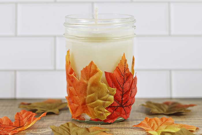 How to Make a Leaf Candle Holder + Fall Candle Tutorial