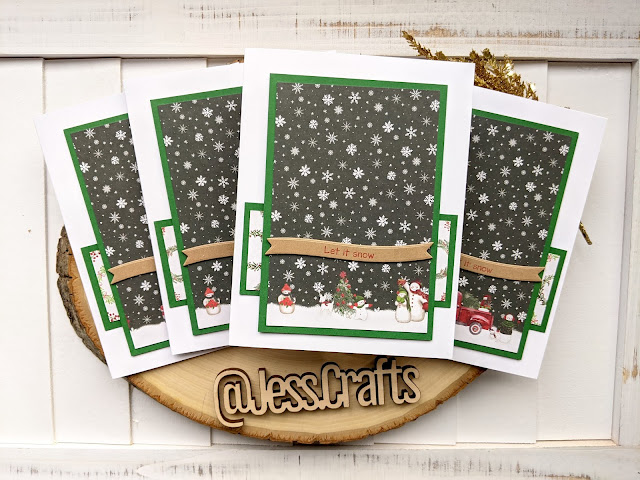 Christmas Card using Michael's Recollections Say Freeze for Jess Crafts One Sheet Wonder 11