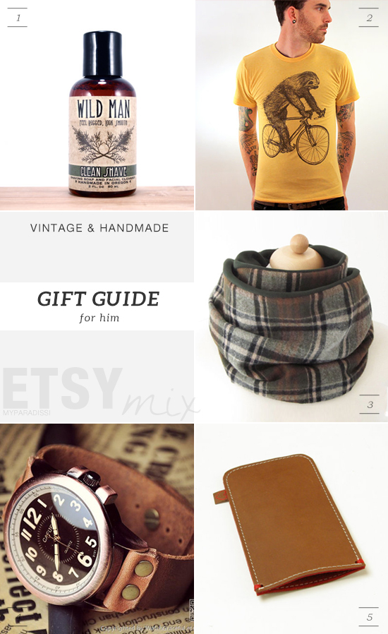 Vintage and handmade holidays gift guide from Etsy for men by My Paradissi