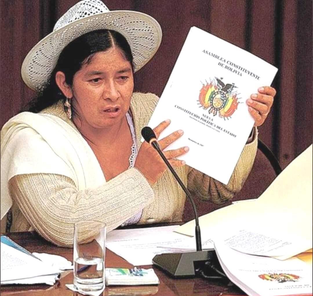 Silvia Lazarte encabezó la Asamblea Constituyente desde agosto de 2006 / ARCHIVOS WEB