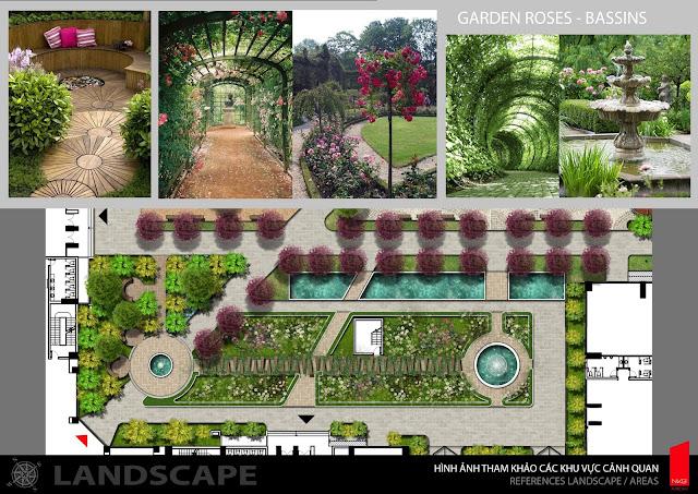 Khuôn viên vườn hoa Iris Garden