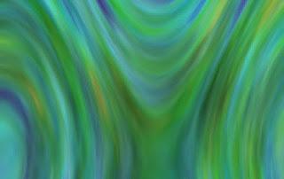 渦を描くノイズ色面
