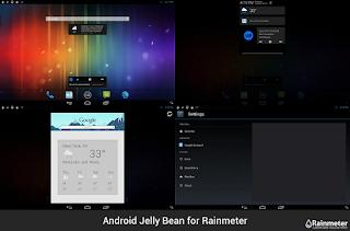 ثيم  Android Jelly Bean  تستطيع تحويل سطح المكتب الى ستايل التليفون المحمول الذى يعمل بنظام اندرويد جيلى بين