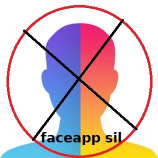 FaceApp Silme