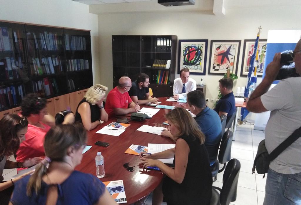 Ο Περιφερειακός Διευθυντής Εκπαίδευσης Κεντρικής Μακεδονίας κ. Κόπτσης παραχώρησε συνέντευξη Τύπου σε εκπροσώπους των ΜΜΕ.