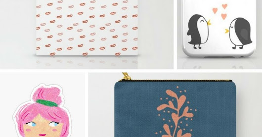 Redbubble and Society6 Shop!