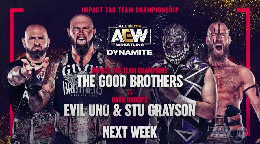 IMPACT Tag Team Championship será defendido no próximo Dynamite