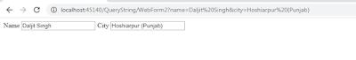 QueryString in ASP.NET