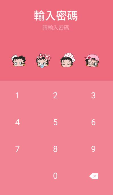 LINE Betty Boop(紅粉愛心)免費主題