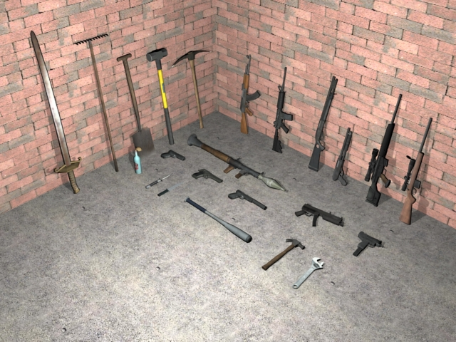 GTA IV Weapons To GTA San Andreas Mod