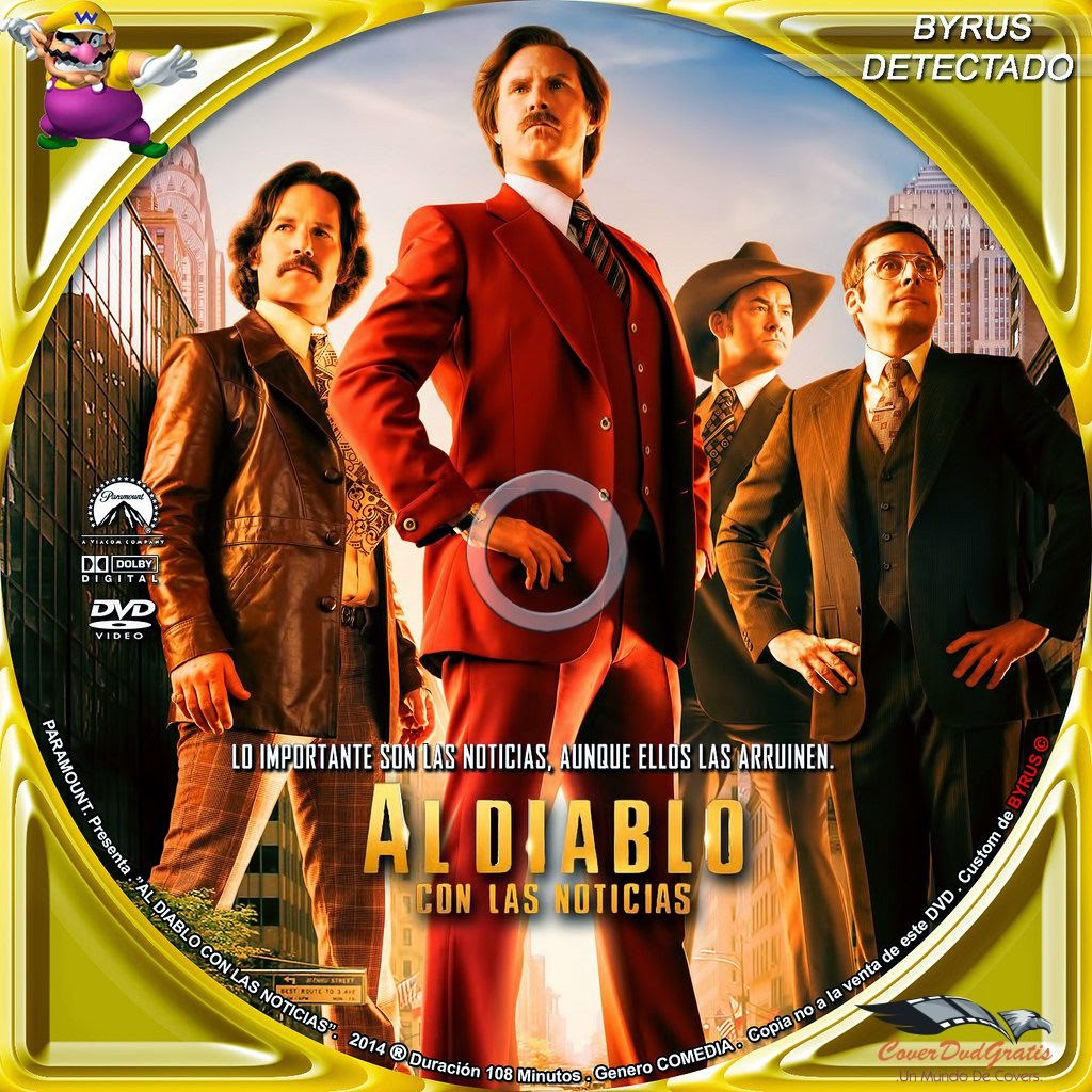 anchorman 2 dvd cover 2013 espa209ol archivos coverdvdgratis