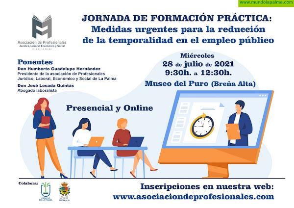 La Asociación de Profesionales Laborales organiza una formación sobre las medidas urgentes para  la reducción de la temporalidad en el empleo público