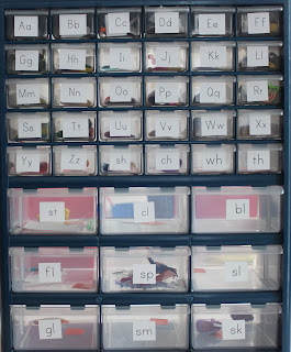 our alphabet drawers