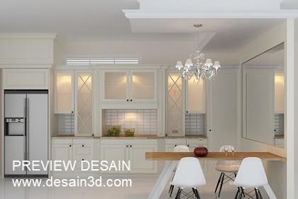 Jasa desain interior ruang dapur kering berpengalaman