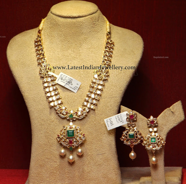Lovely Polki Necklace Design