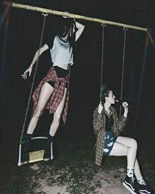 poses grunge amigas tumblr columpio