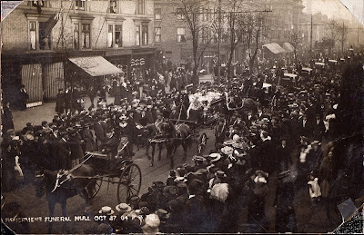 Funeral procession of George Smith and William Leggot, who were killed in the North Sea Incident, 21st October, 1904