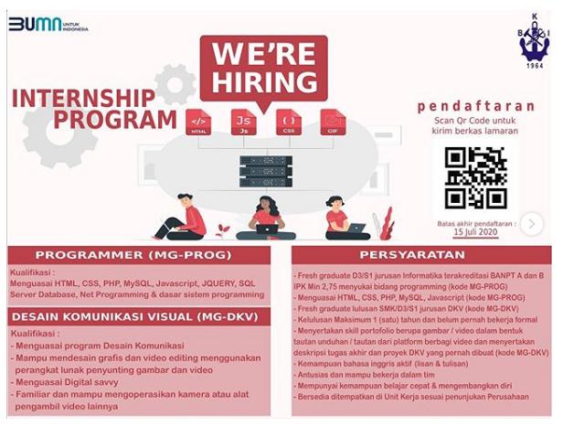 Rekrutmen Internship Program PT Biro Klasifikasi Indonesia (Persero) Juli 2020