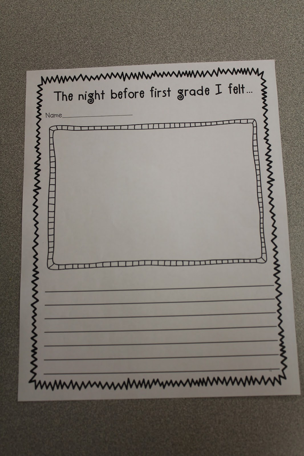 The Razzle Dazzle Classroom First Day Of First Grade