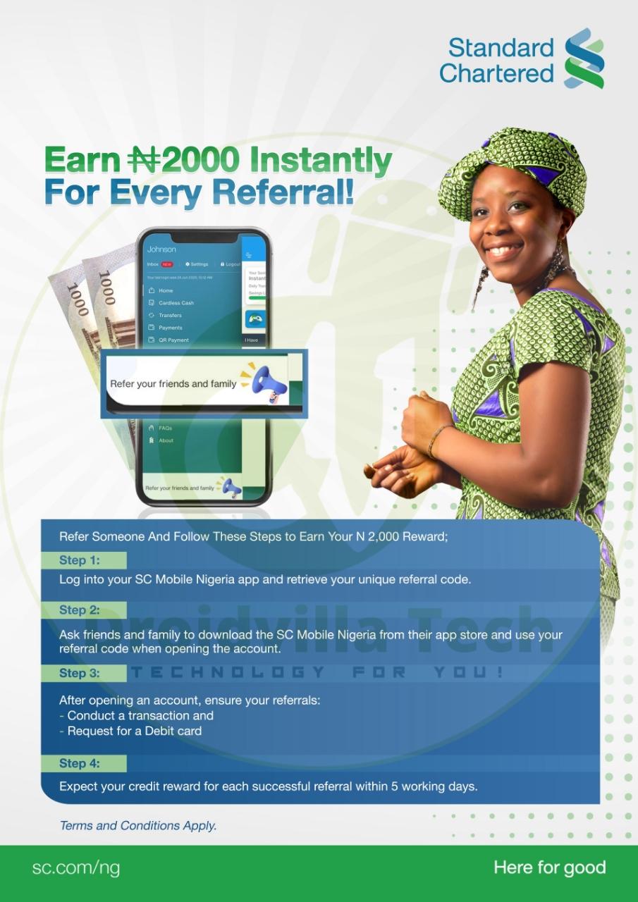 Standard Chartered bank free N2000