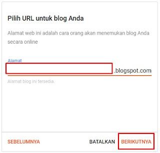 Cara bikin blogspot
