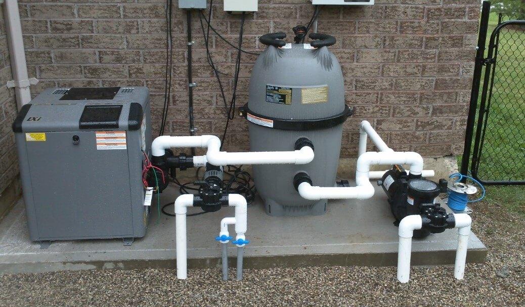 Sistem filter kolam renang