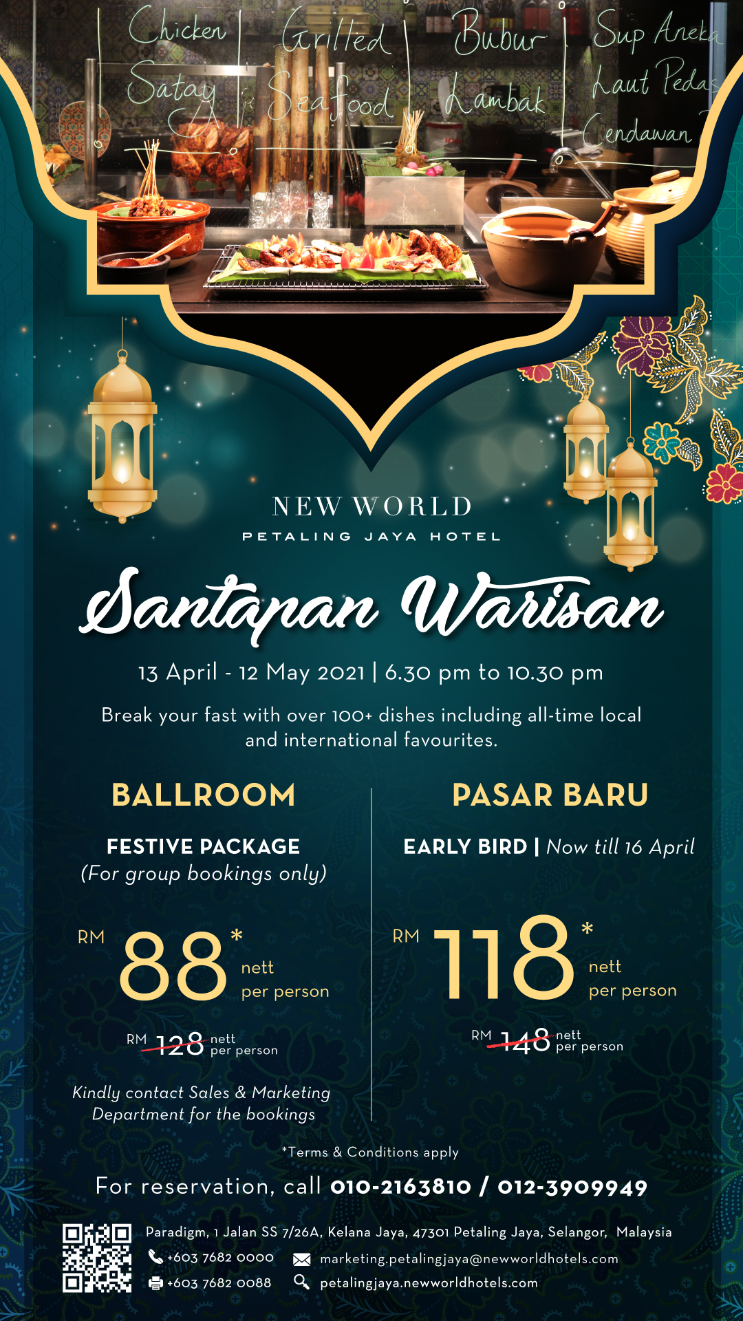 BUFET RAMADAN 2021 NEW WORLD PETALING JAYA HOTEL