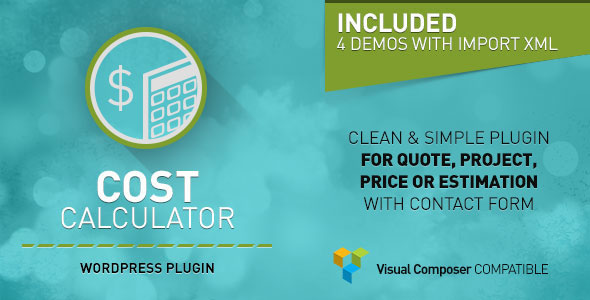 Free Download latest version of Cost Calculator V1.0.6 - WordPress Plugin