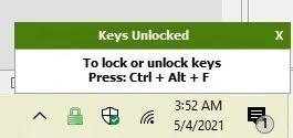 4 طرق سريعة لتعطيل لوحة المفاتيح في Windows 10 Keyfreeze Unlock