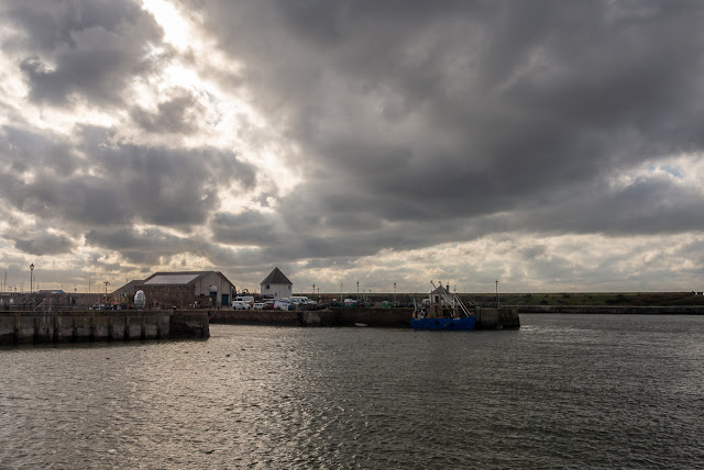 PHoto of sunshine trying to break through the heavy cloud at Maryport on Saturday afternoon