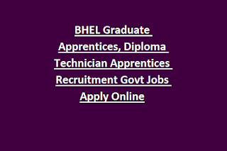BHEL Trichy Graduate Apprentices, Diploma Technician Apprentices Recruitment 2019 451 Govt Jobs Apply Online