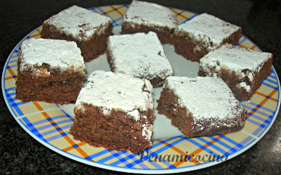 Brownie dos chocolates sin gluten