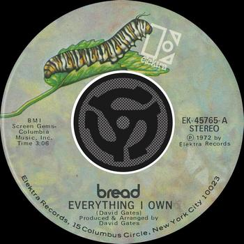 Download mp3 full flac album vinyl rip Everything I Own - Bread - Everything I Own / Guitar Man (Vinyl)