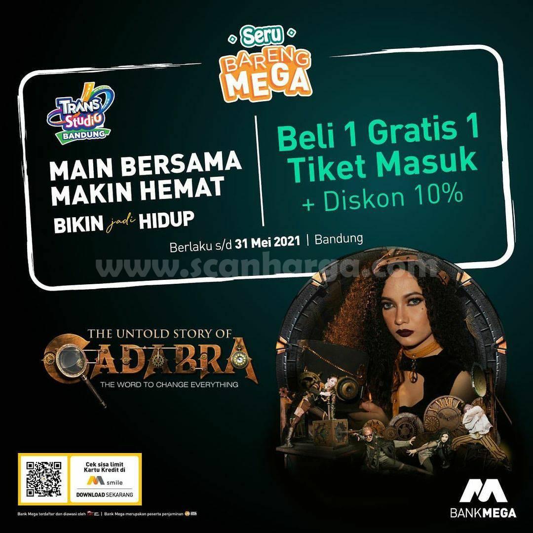 Trans Studio Bandung Promo Beli 1 Gratis 1 Tiket Masuk + Diskon 10%
