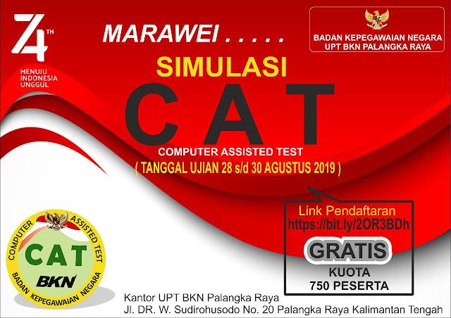 Simulasi CAT UPT BKN Palangka Raya 2019