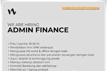 Loker Bandung Admin Finance Iwearzule