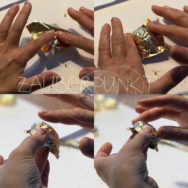 GOLD-Überraschungs-NUSS DIY, iamcreative.ch, Tischdekoration, Blattgold, Minigeschenk, Weihnachtsmitbringsel, Tutorial, DIY, Gold, Weihnachten, Advent, Nussschalen, Glück ist...,