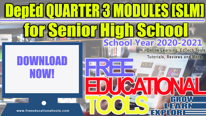 DepEd SHS ADM QUARTER 3 Modules [SLMs] All Subjects