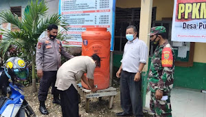 TNI Polri Mengecek Sarana Pendukung Protokol Kesehatan