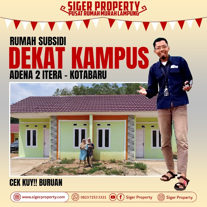 Dekat Kampus!! Rumah Subsidi Tanpa DP & Bisa Syariah