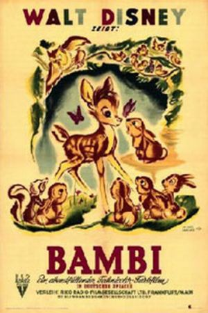 Original film poster Bambi 1942 animatedfilmreviews.filminspector.com
