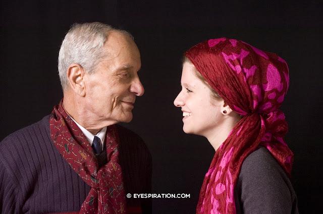 Grootvader en kleindochter