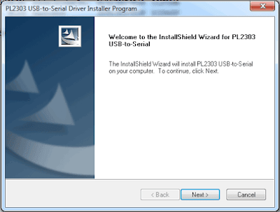 Install USB to RS232