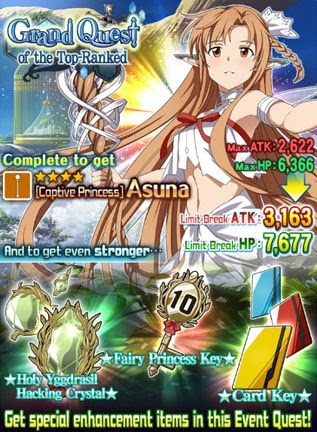 Limit Breaking Event Based Characters - Asuna