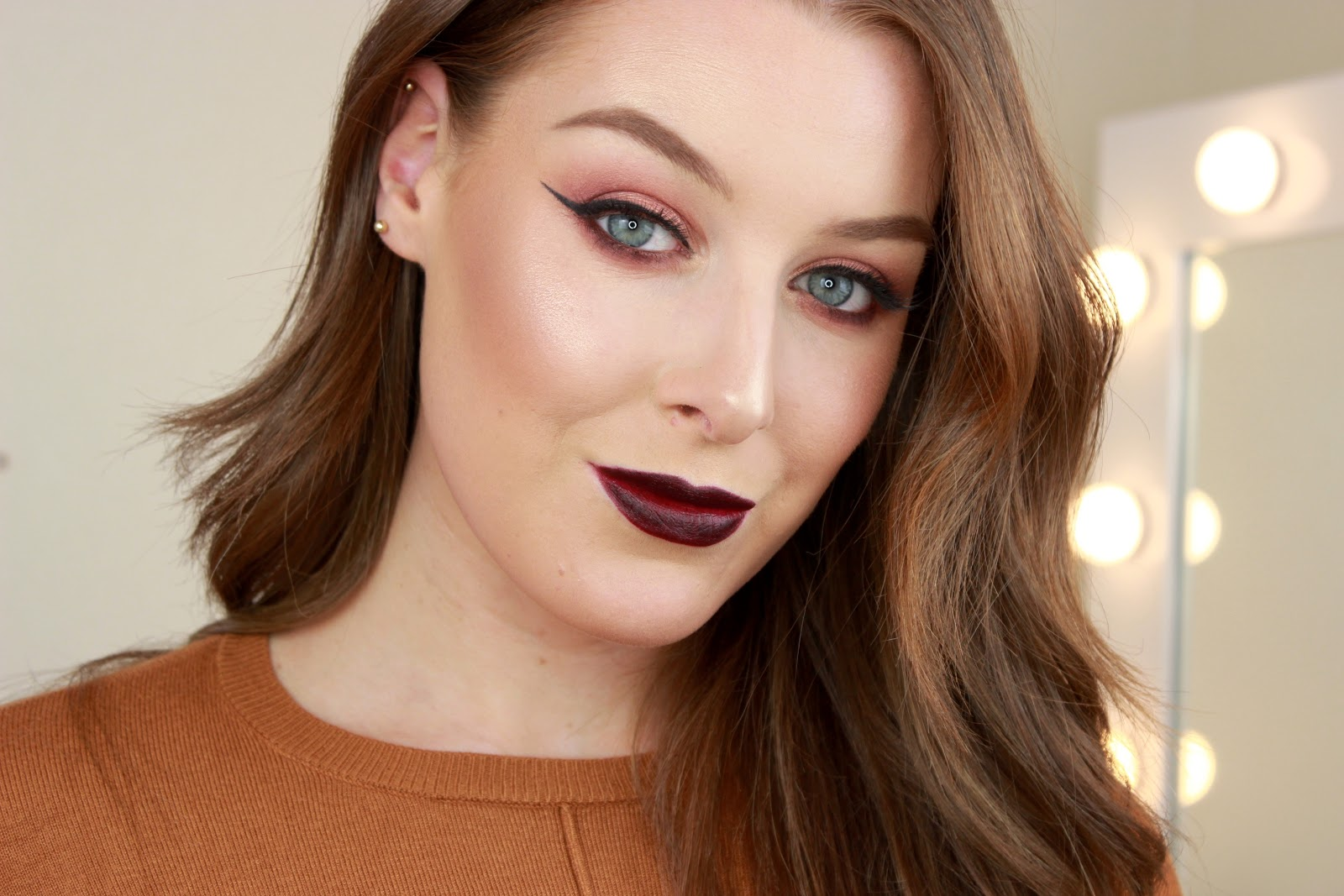 plum toned makeup tutorial